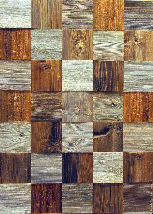 Дизайн интерьеров ручной работы. Ярмарка Мастеров - ручная работа. Купить Деревянная плитка для стен из амбарной доски. Handmade. дерево
