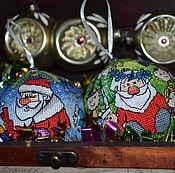 Подарки к праздникам ручной работы. Ярмарка Мастеров - ручная работа Шарики новогодние (шар, игрушка на елку). Handmade.