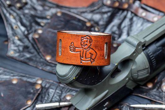 """Браслеты ручной работы. Ярмарка Мастеров - ручная работа. Купить Браслет кожаный """"Волт-бой"""". Handmade. Браслет, браслет из кожи"""