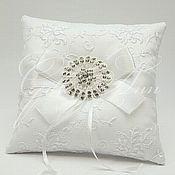 Свадебный салон ручной работы. Ярмарка Мастеров - ручная работа Подушечка для колец White Perfection. Handmade.