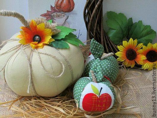 Осенний интерьер, овощи,осень, тыква, тыква текстильная. ярмарка мастеров.