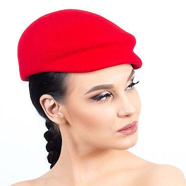 """Аксессуары ручной работы. Ярмарка Мастеров - ручная работа Шляпы: Кепка женская """"Крис"""" красная. Handmade."""