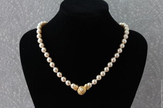 Винтажные украшения. Ярмарка Мастеров - ручная работа. Купить Nolan Miller Ожерелье с жемчугом винтажное. Handmade. Разноцветный, винтажная бижутерия