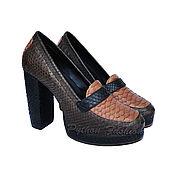 Обувь ручной работы handmade. Livemaster - original item Shoes made of Python ERFOLLE. Handmade.