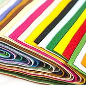Материалы для творчества ручной работы. Ярмарка Мастеров - ручная работа Набор фетра, 30 цветов, мягкий, 22 см на 30 см / 1,0 мм, Корея. Handmade.