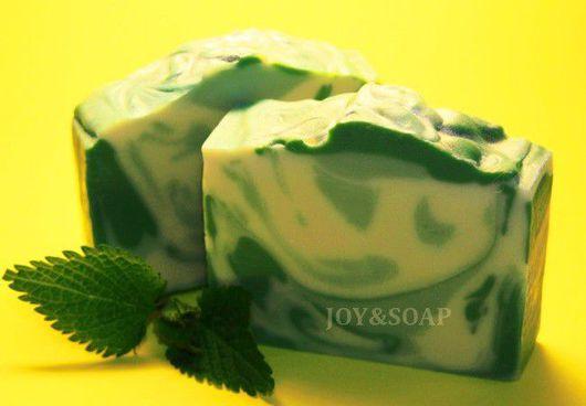 Мыло Joysoap ИЗУМРУДНАЯ РОСА. Натуральное мыло на соке огурца с алоэ