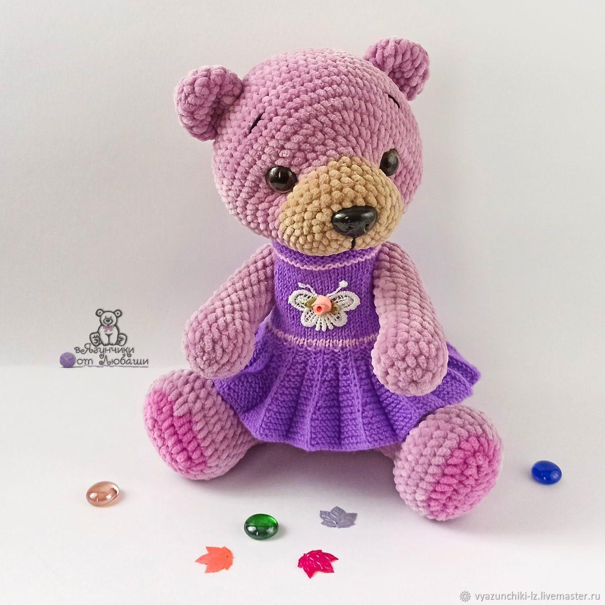 Soft toy Bear plush Bear knitted plush toy, Stuffed Toys, Volokolamsk,  Фото №1