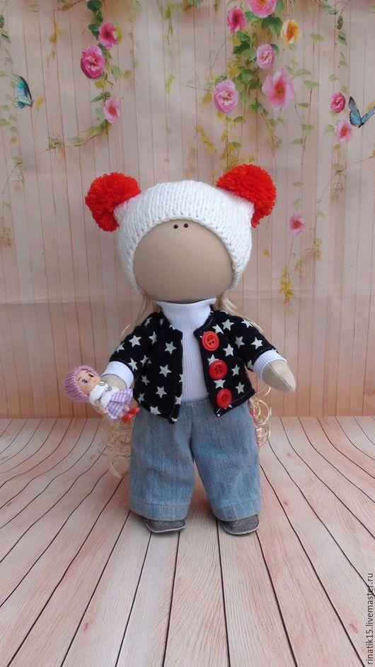 Коллекционные куклы ручной работы. Ярмарка Мастеров - ручная работа. Купить Кукла интерьерная 37 см.. Handmade. Синий