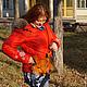 Женские сумки ручной работы. Кожаная сумка Рыжий Лис. Chezarr. Интернет-магазин Ярмарка Мастеров. Лиса, мех натуральный