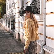 Одежда handmade. Livemaster - original item Jerseys: Women`s handmade alpaca sweater in lemon color. Handmade.