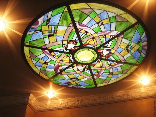 Освещение ручной работы. Ярмарка Мастеров - ручная работа. Купить световой потолок люстра. Handmade. Разноцветный, люстра ручной работы