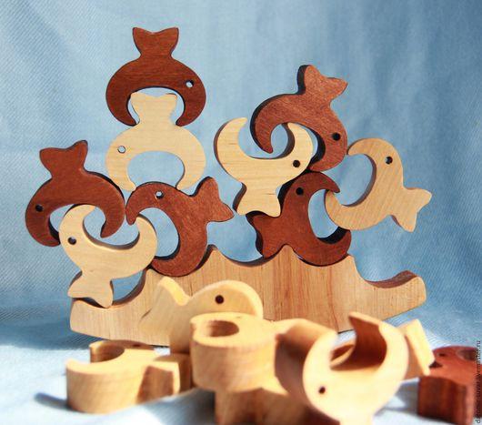 Развивающие игрушки ручной работы. Ярмарка Мастеров - ручная работа. Купить Деревянный балансир Рыбки. Handmade. Игрушка из дерева, головоломка