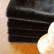 Материалы для творчества ручной работы. Ярмарка Мастеров - ручная работа Мохер прямой короткий 2.5 мм. Черный. Handmade.