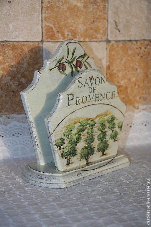 """Кухня ручной работы. Ярмарка Мастеров - ручная работа. Купить Салфетница """"Savon de Provence"""". Handmade. Прованс, олива"""