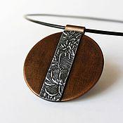 Украшения handmade. Livemaster - original item Pendant from polymer clay Fleur. Handmade.