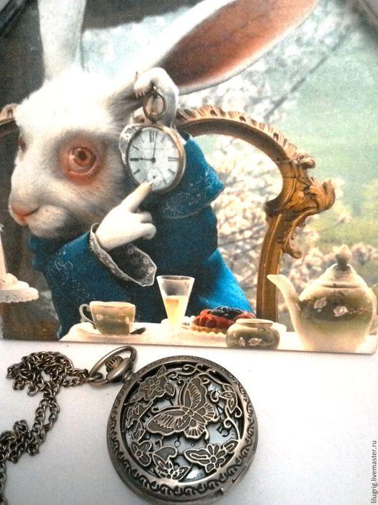 "Часы ручной работы. Ярмарка Мастеров - ручная работа. Купить Часы карманные ""Летающая бабочка"". Handmade. Часы, часы на цепочке"