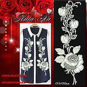 Материалы для творчества handmade. Livemaster - original item Bright roses. Composition 1 (application).. Handmade.