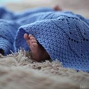 Работы для детей, handmade. Livemaster - original item A knitted blanket and beanie for a boy. Children`s blanket statement.. Handmade.