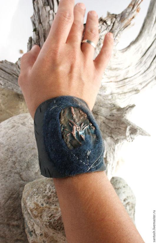Браслеты ручной работы. Ярмарка Мастеров - ручная работа. Купить Браслет Сумерки. Handmade. Темно-серый, дикие травы