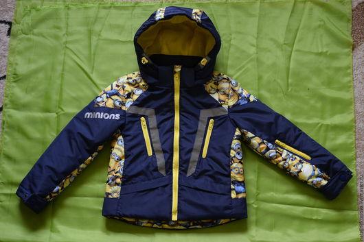"""Верхняя одежда ручной работы. Ярмарка Мастеров - ручная работа. Купить Куртка """"Миньоны"""". Handmade. Комбинированный, куртка демисезонная"""