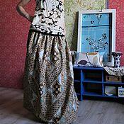 Одежда ручной работы. Ярмарка Мастеров - ручная работа Длинная юбка из хлопка на лето. Handmade.