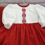 Работы для детей, ручной работы. Ярмарка Мастеров - ручная работа Платье в русском стиле Маруся. Handmade.