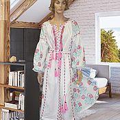 Одежда ручной работы. Ярмарка Мастеров - ручная работа Вышитое макси платье Украинское платье Платье вышиванка Льняное. Handmade.