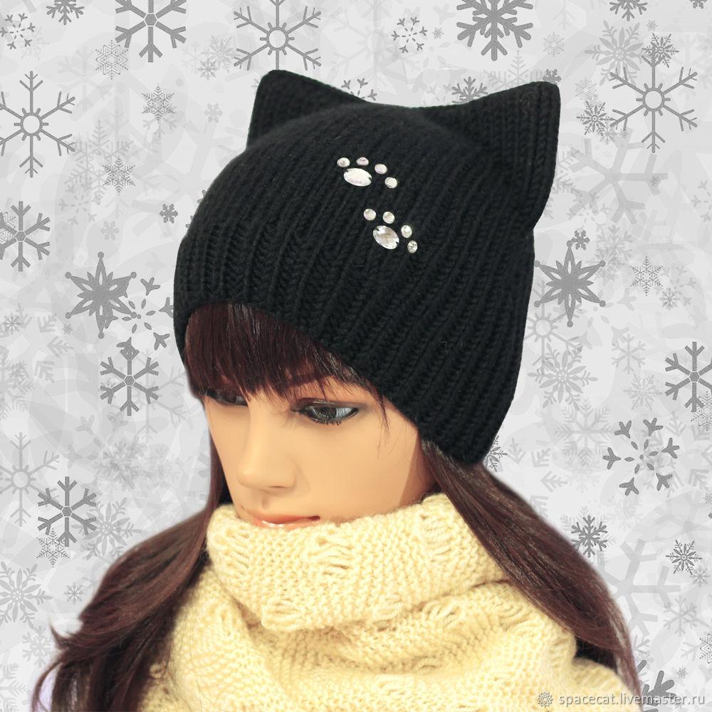 Gorro con orejas-Gato punto Felino pata negra – compra u ordena en ...