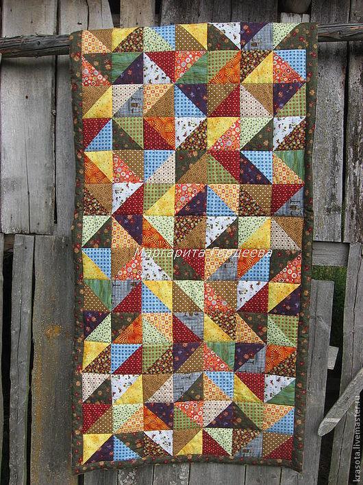 """Текстиль, ковры ручной работы. Ярмарка Мастеров - ручная работа. Купить Маленькое лоскутное одеяло """" Июль"""". Handmade."""