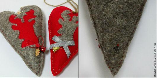 интерьерное украшение `Сердечко` `Ручная работа .Ярмарка мастеров. Купить новогоднее украшение. Интерьерные сердечки.