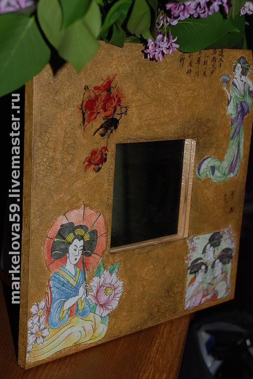 """Зеркала ручной работы. Ярмарка Мастеров - ручная работа. Купить Зеркало """"Соблазн"""". Handmade. Зеркало, декоративное зеркало, япония"""