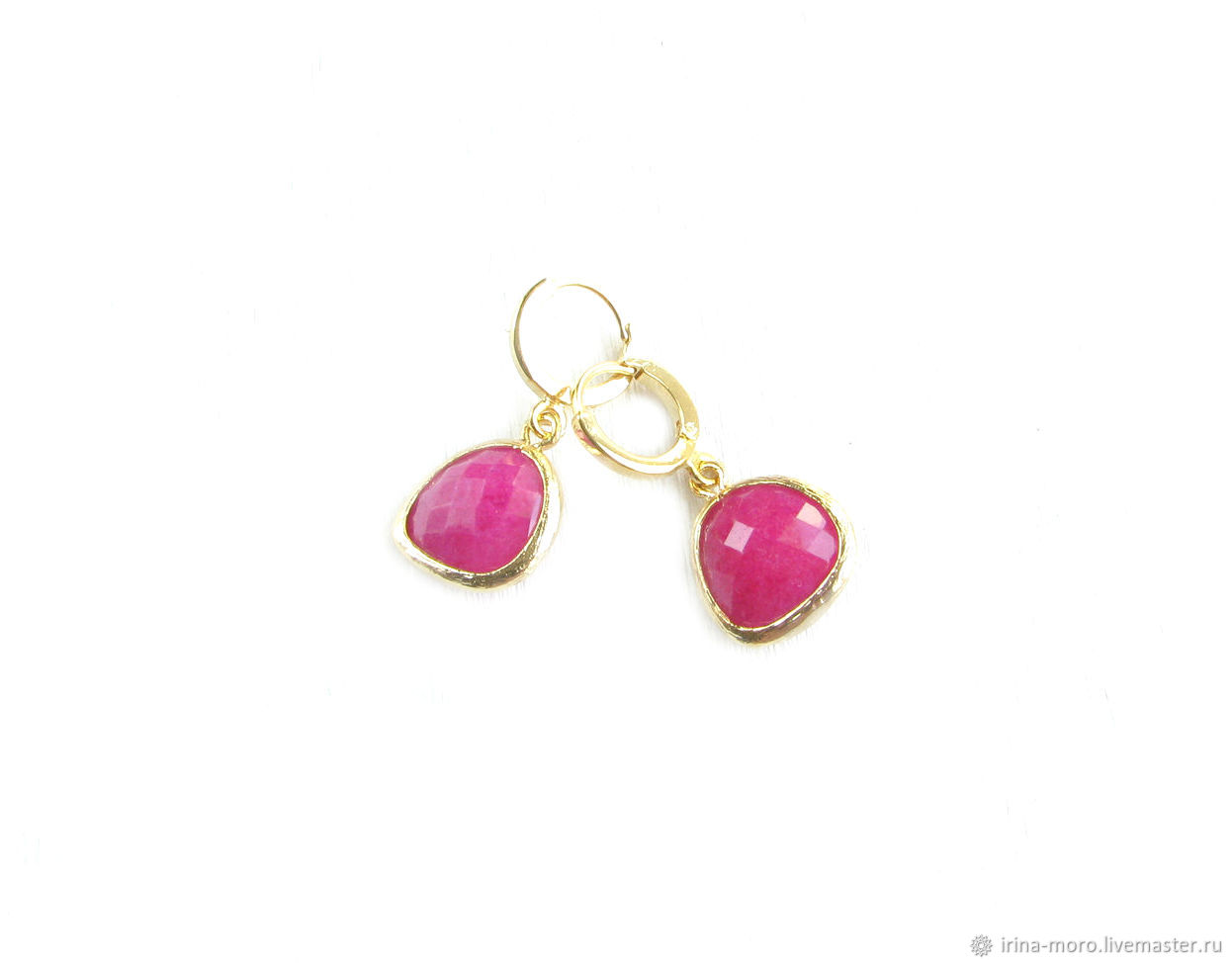 Pink Fuchsia earrings jewelry earrings, children's earrings, Earrings, Moscow,  Фото №1