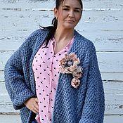 """Одежда handmade. Livemaster - original item Кардиган вязаный, крупная вязка """"Иний"""". Handmade."""