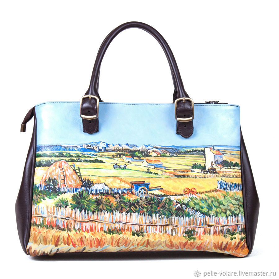 The average women's handbag 'Fields of van Gogh', Classic Bag, St. Petersburg,  Фото №1