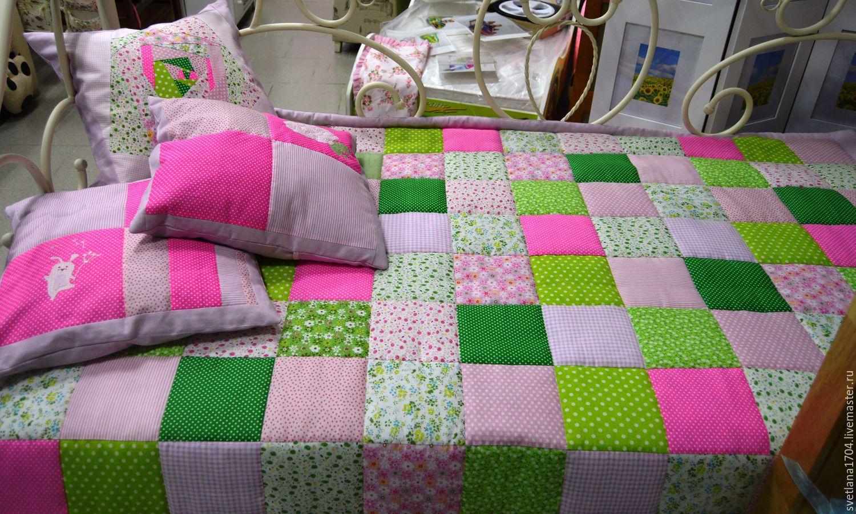 Одеяло из квадратов ткани своими руками 1