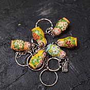Русский стиль handmade. Livemaster - original item Keychain Matryoshka. Handmade.