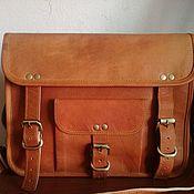 Мужская сумка ручной работы. Ярмарка Мастеров - ручная работа Мужская кожаная сумка портфель на ремне через плечо. Handmade.