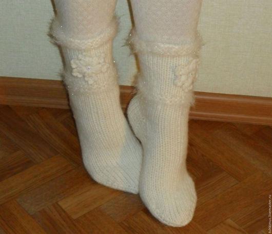 вязаные носки, носки с бусинами, носки с аппликацией, носки недорого, носки дёшево, вязаные носки недорого