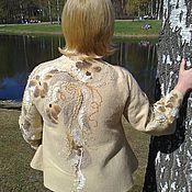 """Одежда ручной работы. Ярмарка Мастеров - ручная работа Жакет валяный """"Крем-брюле"""". Handmade."""
