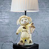 Для дома и интерьера handmade. Livemaster - original item Porcelain table lamp with shade