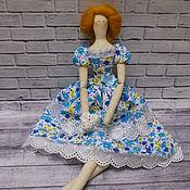 Куклы и игрушки ручной работы. Ярмарка Мастеров - ручная работа Кукла в стиле Тильда. Цветочная. Handmade.
