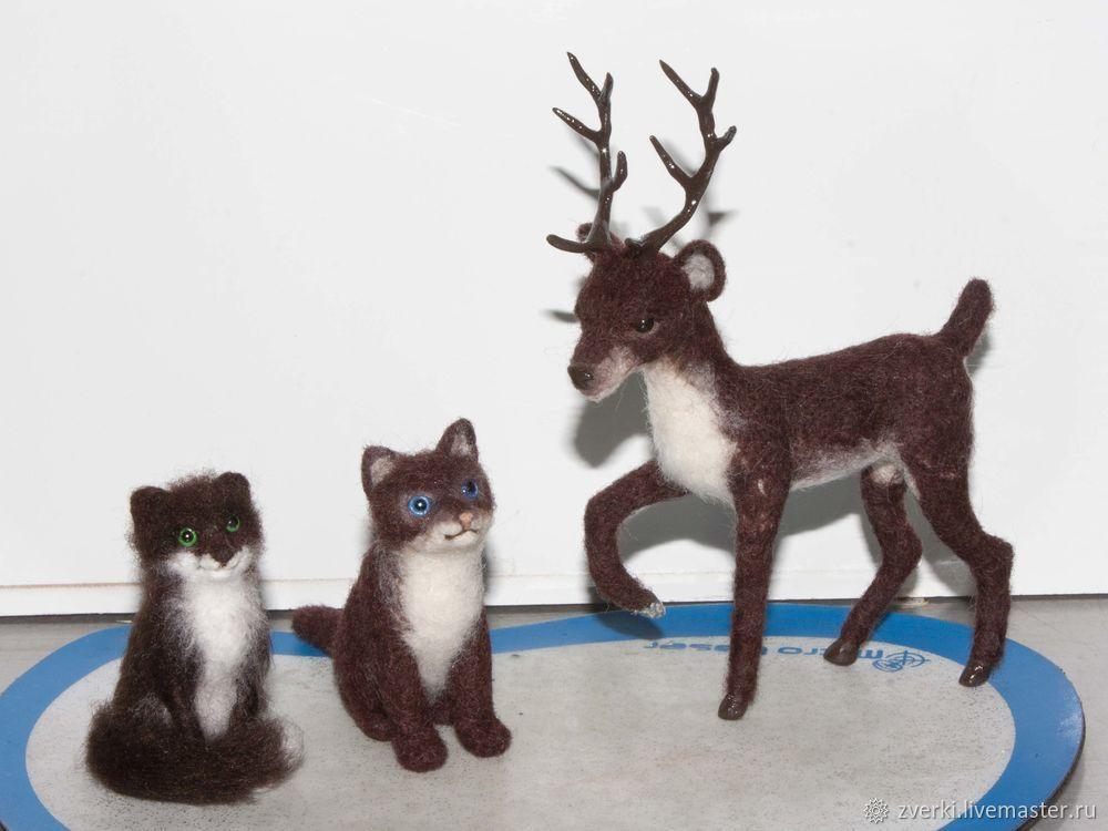 felt toy: deer silver hoof, Felted Toy, Moscow,  Фото №1