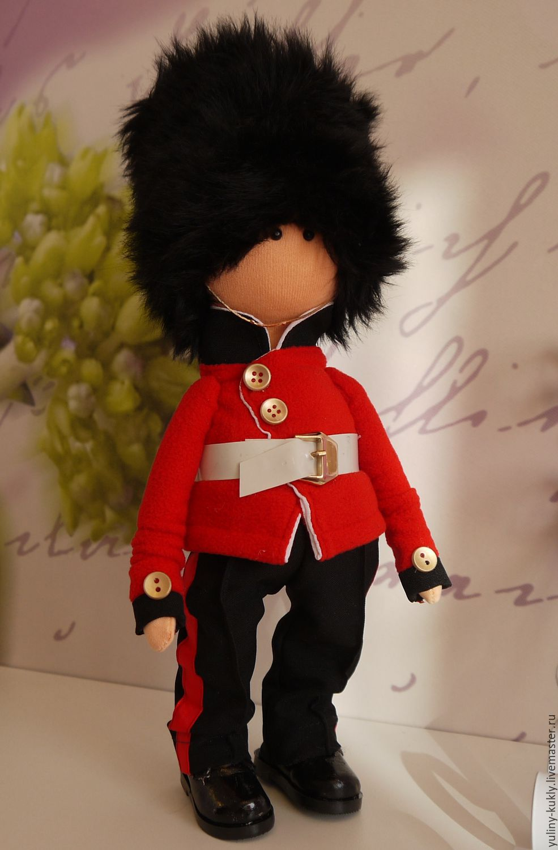 Текстильная кукла Британский королевский гвардеец, Коллекционные куклы, Санкт-Петербург, Фото №1