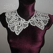 Аксессуары handmade. Livemaster - original item The collar Leaves Yelets lace. Handmade.