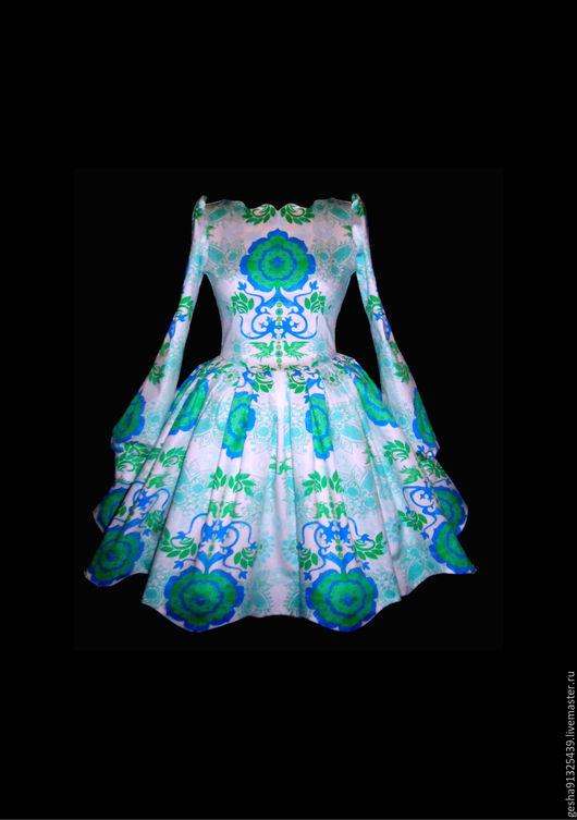 """Платья ручной работы. Ярмарка Мастеров - ручная работа. Купить Платье """"Весенняя гжель""""  авторское. Handmade. Белый, красивое платье"""