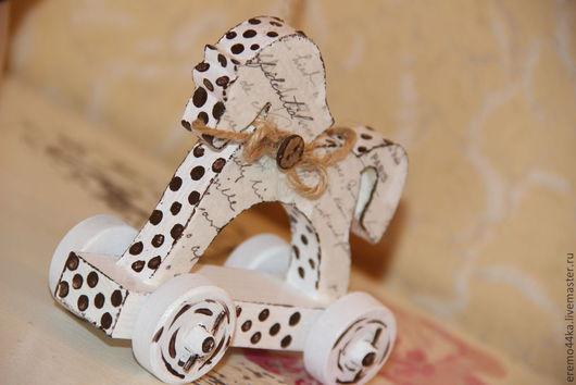 """Куклы Тильды ручной работы. Ярмарка Мастеров - ручная работа. Купить """"МАЛЫШ"""" со своим коняшкой. Handmade. Бордовый, зайчик"""