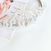 Свадебный салон handmade. Livemaster - original item Bridal tiara headband Wedding hairpiece Glass beaded bridesmaid headpi. Handmade.