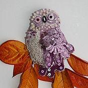 Украшения ручной работы. Ярмарка Мастеров - ручная работа Сиреневая сова. Handmade.
