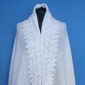 Аксессуары handmade. Livemaster - original item 197 Orenburg downy tippet ,knitted, white,accessories,shawls. Handmade.