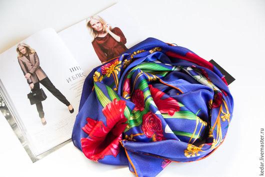"""Шарфы и шарфики ручной работы. Ярмарка Мастеров - ручная работа. Купить Эксклюзив! Шёлковый платок HANEL """" Сhamp floraison"""". Handmade."""